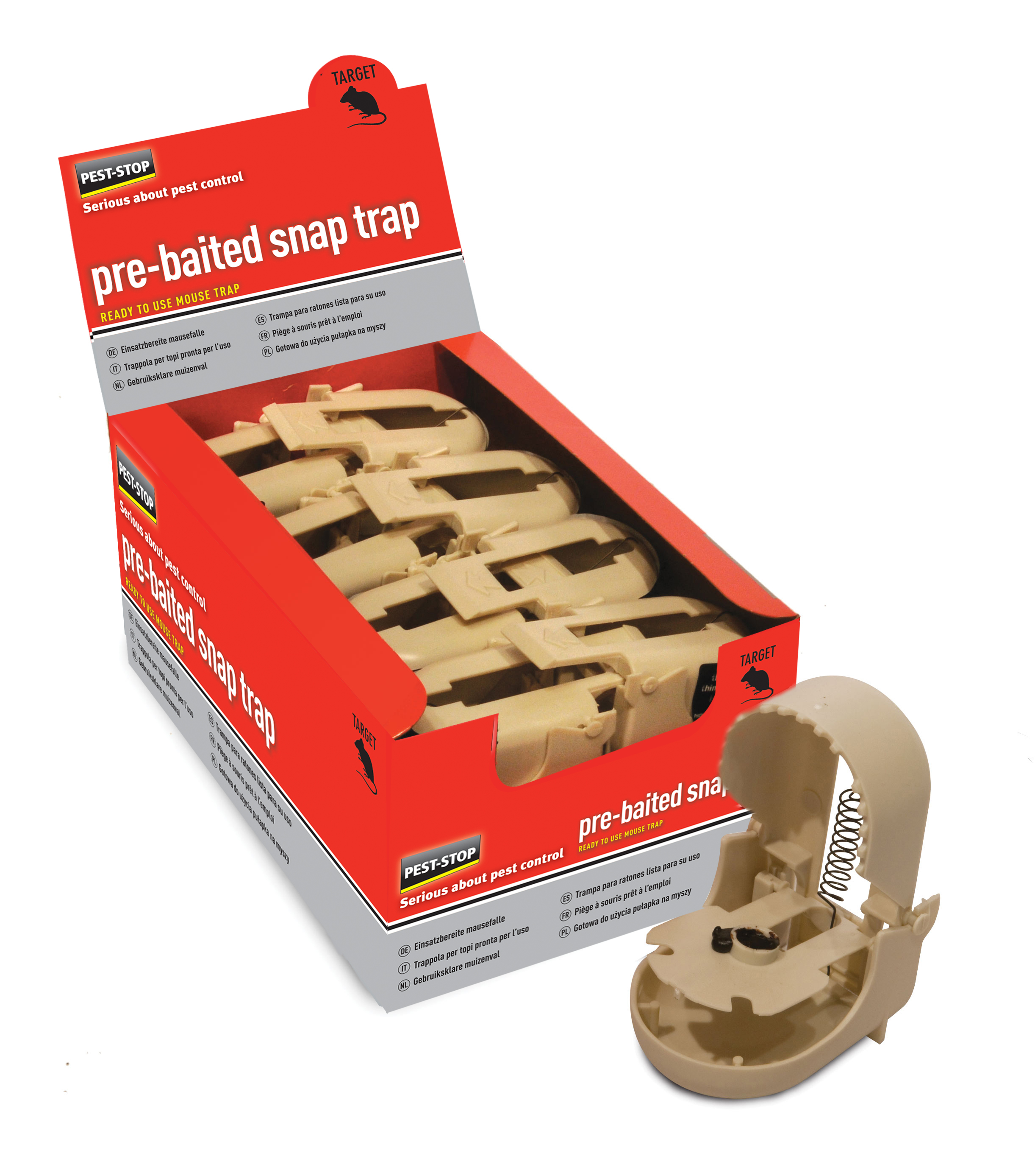 Pest Stop Pre Baited Snap Trap